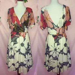 Floral mini dress by Tibi size 6